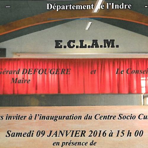 Inauguration du Centre Socio Culturel