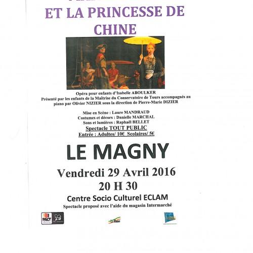 """OPERA POUR ET PAR DES ENFANTS """"MARCO POLO ET LA PRINCESSE DE CHINE"""" Vendredi 29 Avril 14h00-20h30 Centre Socio Culturel E.C.L.A.M"""