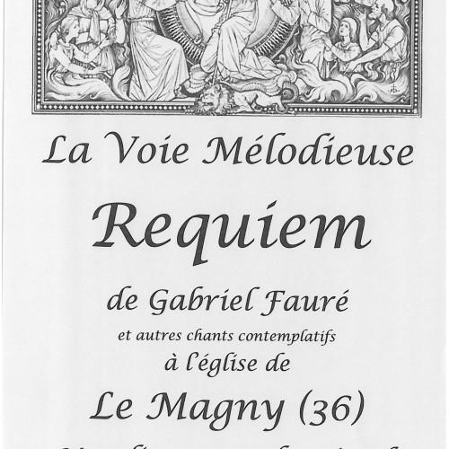 """CONCERT """"LA VOIE MELODIEUSE REQUIEM"""" A l'Eglise ST MICHEL MARDI 1ER NOVEMBRE 17H"""