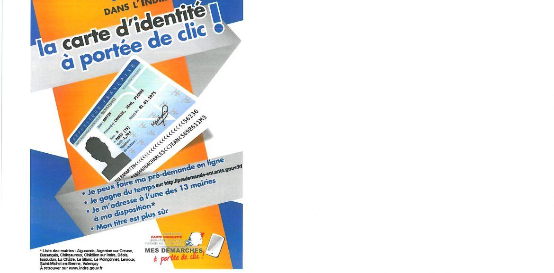 LA CARTE D'IDENTITE A PORTEE DE CLIC DES LE 2 MARS