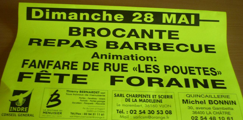 BROCANTE DIMANCHE 28 MAI TOUTE LA JOURNEE