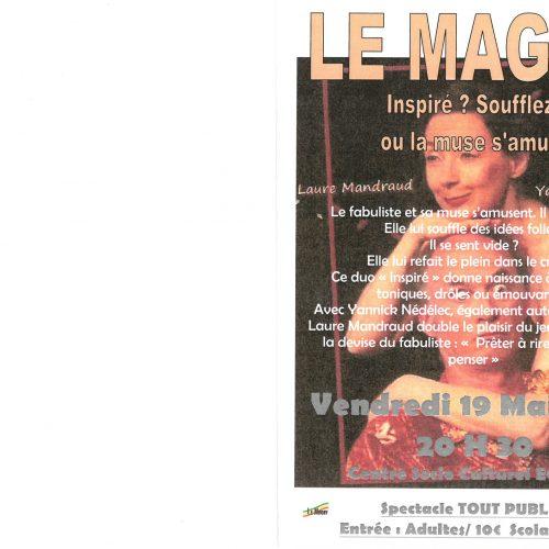 "Spectacle ""INSPIRE ? SOUFFLEZ !"" le vendredi 19 Mai -20h30- Centre Socio Culturel ECLAM"