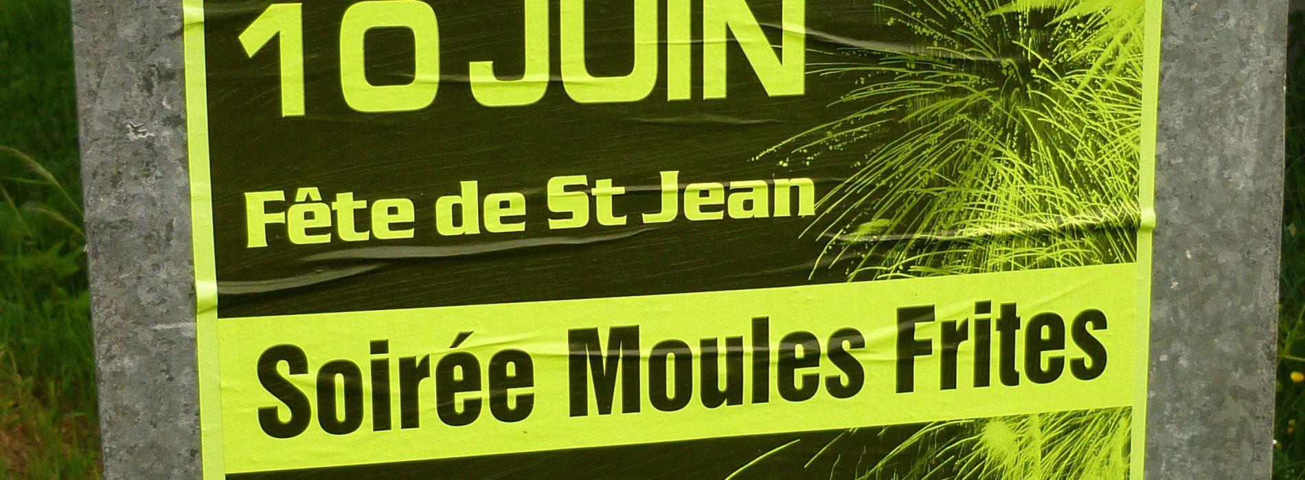 SOIREE MOULES FRITES LE SAMEDI 10 JUIN 2017