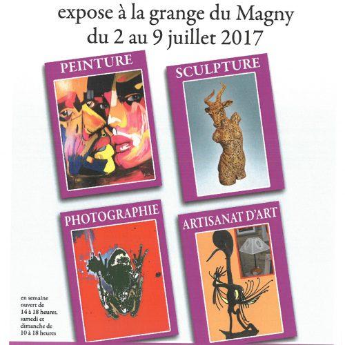 """EXPOSITION """"RéCréation"""" à la Grange du Magny du 02 au 09 juillet 2017"""