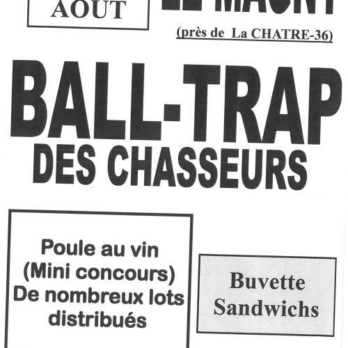BALL-TRAP DES CHASSEURS DIMANCHE 27 AOUT