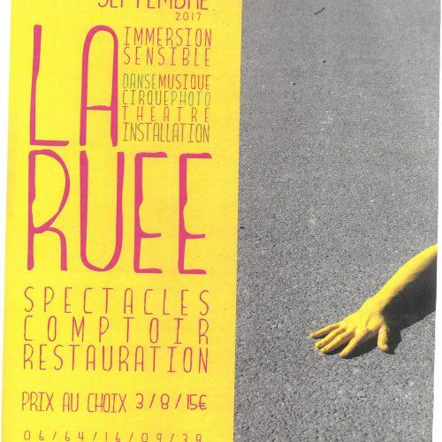 """SPECTACLES COMPTOIR """"LA RUEE"""" 16 et 17 Septembre Domaine du Prieuré"""