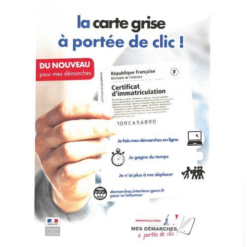 LA CARTE GRISE A PORTEE DE CLIC !