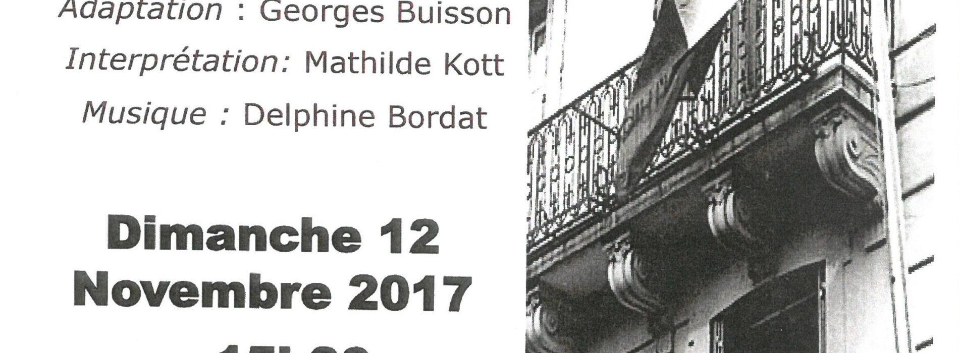 """LECTURE THEATRALISEE """"Le Journal d'un collabo"""" d'Eliane Aubert-Colombani"""