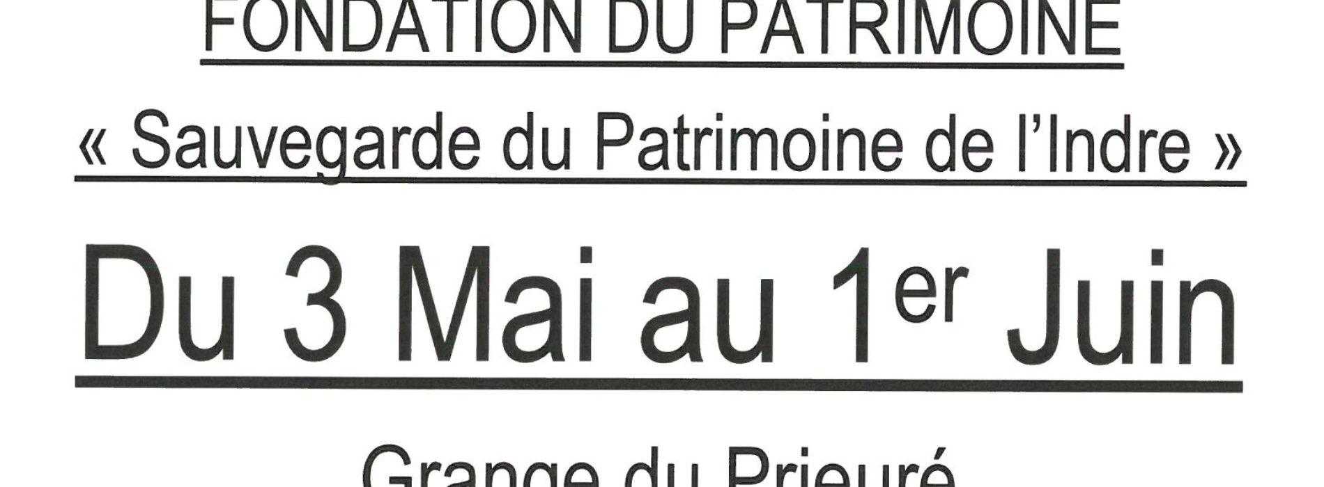 """EXPOSITION ITINERANTE """"Sauvegarde Du Patrimoine de l'Indre"""" du 3 Mai au 1er Juin"""