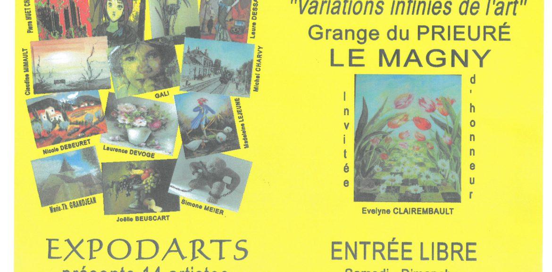 """EXPOSITION VENTE """"VARIATIONS INFINIES DE L'ART"""" du 7 au 15 juillet 2018 Grange du Prieuré"""