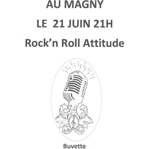 """FETE DE LA MUSIQUE """"Place Edmond Raveau"""" LE 21 JUIN à 21H """"ROCK'N ROLL ATTITUDE"""""""