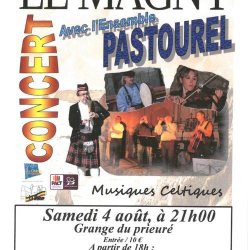 'L'ENSEMBLE PASTOUREL'CONCERT SAMEDI 4 AOUT A 21 H A LA GRANGE DU PRIEURE