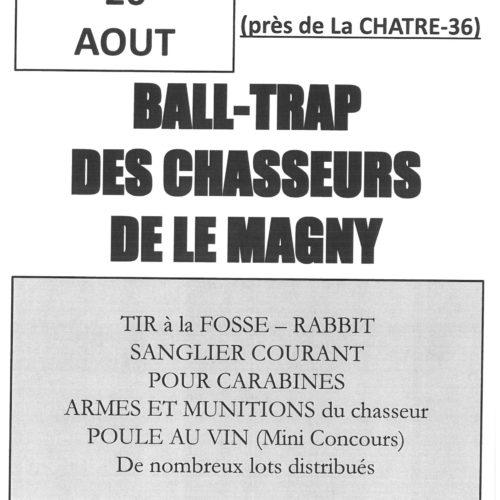 BALL-TRAP DES CHASSEURS DE LE MAGNY Dimanche 26 AOUT