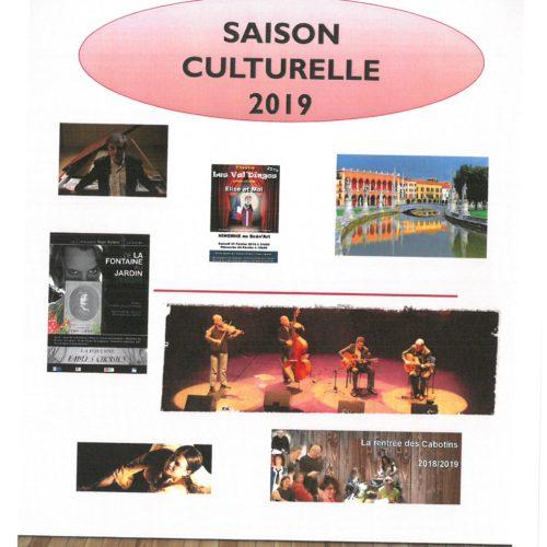 PROGRAMMATION CULTURELLE ET MANIFESTATIONS 2019