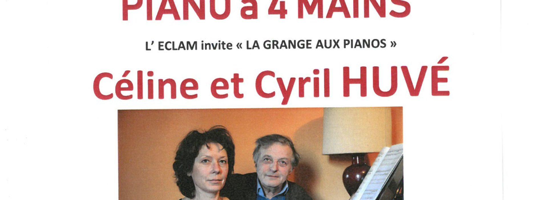 concert FLORILEGE DU PIANO A 4 MAINS LE 16 MARS -20H30 à L' ECLAM