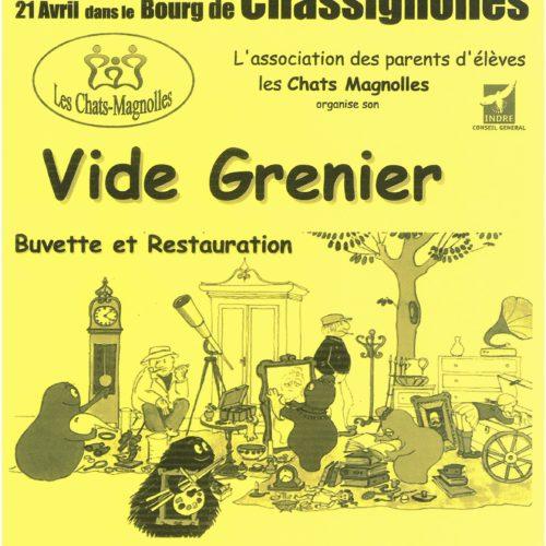 BROCANTE-VIDE GRENIER DIMANCHE 21 AVRIL A CHASSIGNOLLES