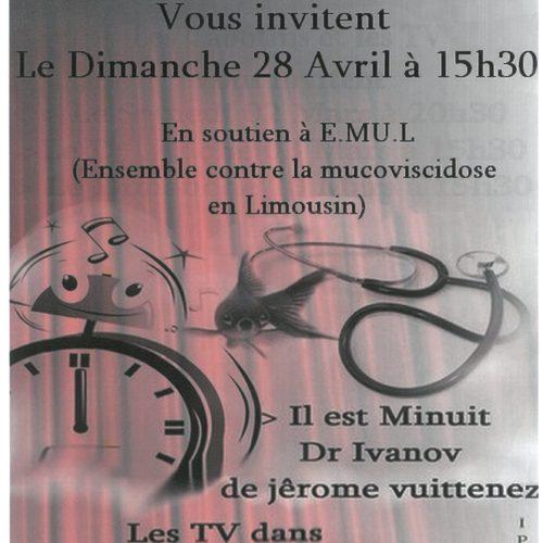 THEATRE LES CABOTINS ET LES TV DIMANCHE 28 AVRIL A 15H30 CENTRE SOCIO CULTUREL L ECLAM