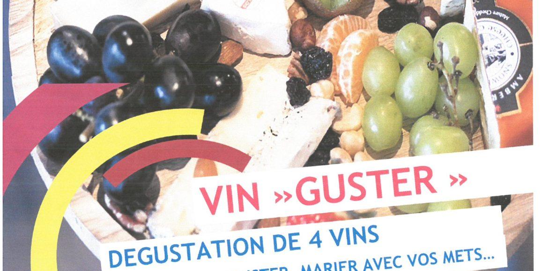 """ATELIER VIN""""GUSTER"""" PAR FAMILLES RURALES LE 21 JUIN A 19 H"""