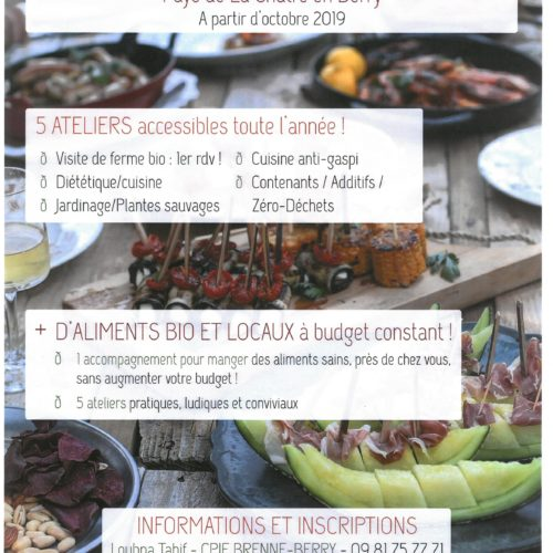 MANGEONS MIEUX ! Défi Familles à Alimentation Positive PAYS DE LA CHATRE EN BERRY à partir d'octobre 2019
