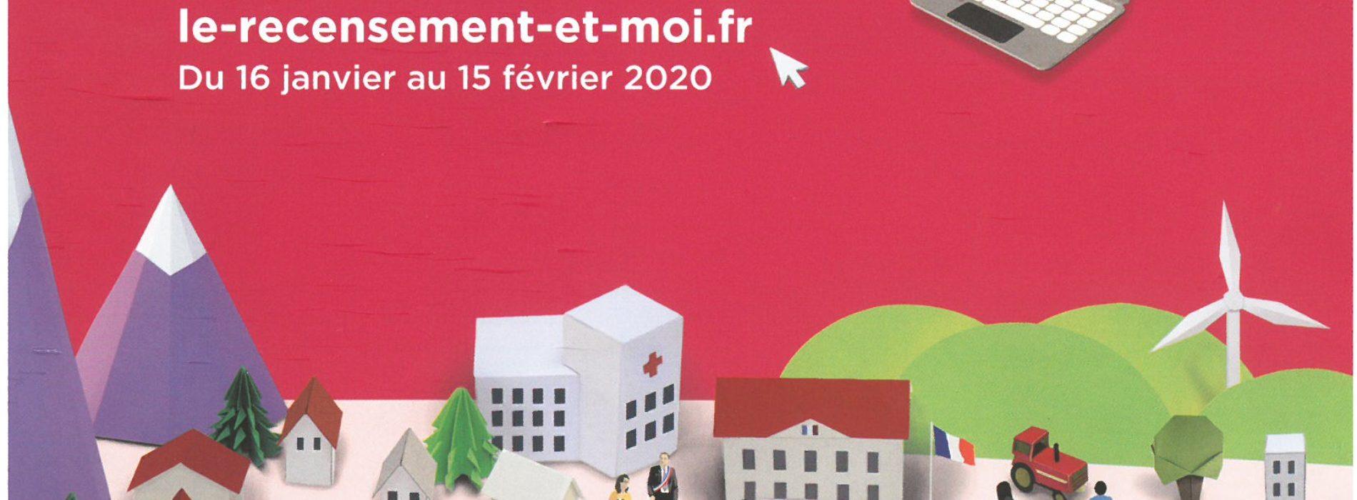 RECENSEMENT DE LA POPULATION DU 16 JANVIER AU 15 FEVRIER 2020