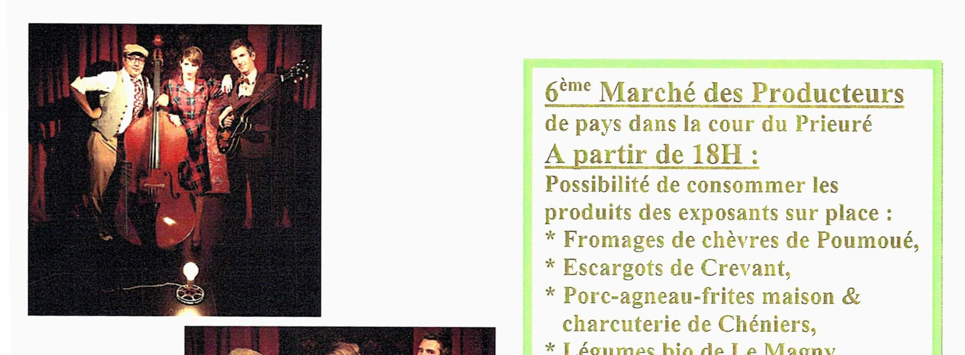 6EME MARCHE DES PRODUCTEURS SUIVI D UN CONCERT SAMEDI 07 AOUT 2021