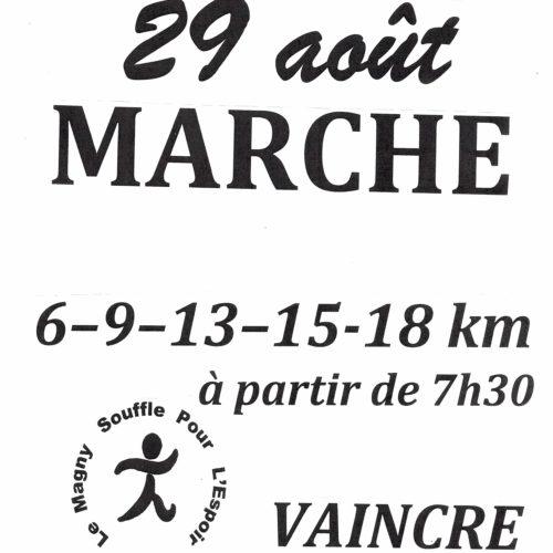 MARCHE LE 29 AOUT ORGANISE PAR LE MAGNY SOUFFLE POUR L ESPOIR