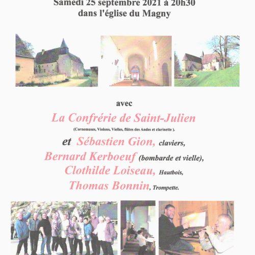 CONCERT DE MUSIQUE SPIRITUELLE ET TRADITIONNELLE SAMEDI 25 SEPTEMBRE A 20H30 EGLISE ST MICHEL
